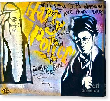 Harry Potter With Dumbledore Canvas Print by Tony B Conscious