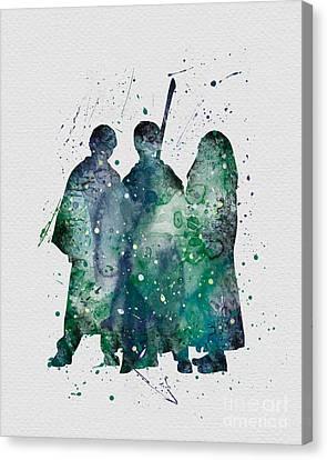 Harry Ronald And Hermione Watercolor  Canvas Print by Vivid Editions