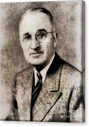 Harry S. Truman, President Of The United States By John Springfield Canvas Print