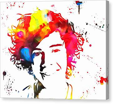 Taylor Swift Canvas Print - Harry Styles Paint Splatter by Dan Sproul