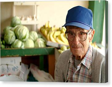 Harry The Produce Man Canvas Print by Don Wolf