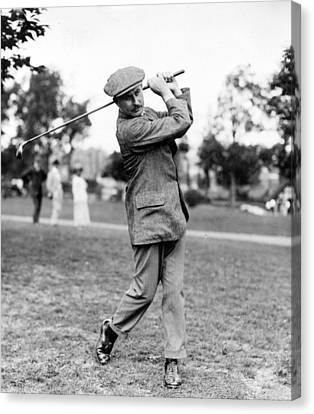 Harry Vardon - Golfer Canvas Print by International  Images