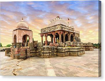 Harshat Mata Temple  Canvas Print by Nila Newsom