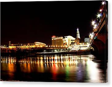 Hartford At Night Canvas Print