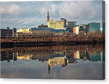 Hartford In The Winter Canvas Print by Karol Livote
