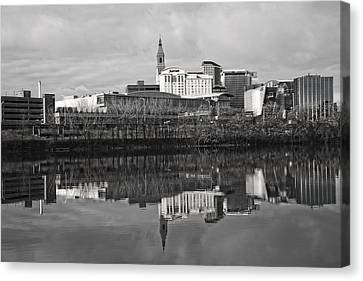 Reflecting Water Canvas Print - Hartford Reflections by Karol Livote