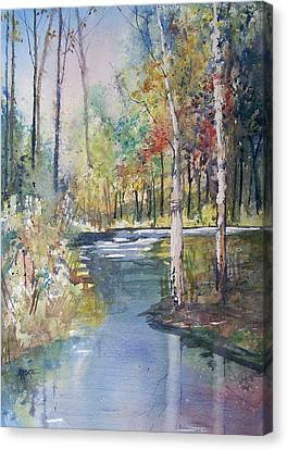 Hartman Creek Birches Canvas Print by Ryan Radke