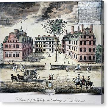 Harvard College, C1725 Canvas Print by Granger