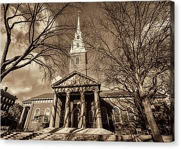 Memorial Hall Canvas Print - Harvard Memorial Church by Stephen Stookey