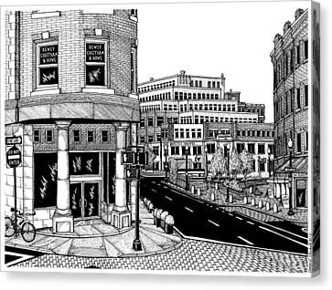 Harvard Square Canvas Print by Conor Plunkett