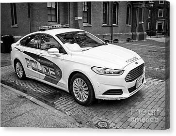 harvard university campus police patrol vehicle Boston USA Canvas Print
