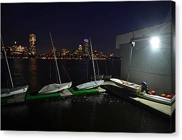 Harvard University Sailing Center Canvas Print by Toby McGuire