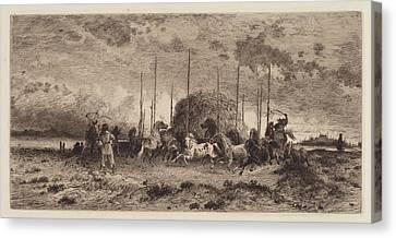 Harvest At San Juan - New Mexico Canvas Print by Peter Moran