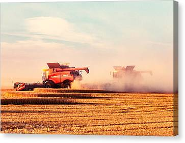 Harvest Dust Canvas Print by Todd Klassy