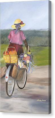 Harvest Finds Canvas Print by Shirley Lawing