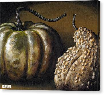 Harvest Gourds Canvas Print by Adam Zebediah Joseph