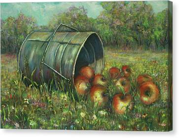 Harvest With Red Apples Canvas Print by Luczay