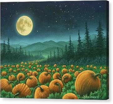 Harvest Moon 01 Canvas Print