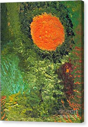 Harvest Moon Abstract Canvas Print by Shelly Wiseberg