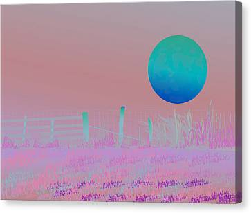 Harvest Moon Canvas Print by Amy Williams