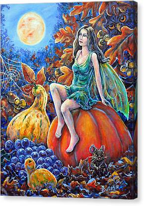 Harvest Moon Canvas Print by Gail Butler