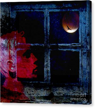 Canvas Print featuring the photograph Harvest Moon by LemonArt Photography