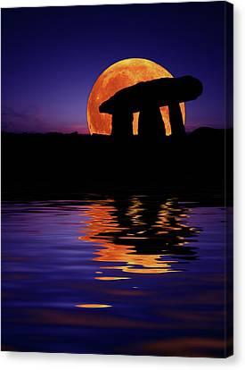 Harvest Moon Canvas Print by Mark Stokes