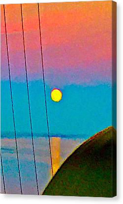 Harvest Moon Rising Canvas Print by Cadence Spalding
