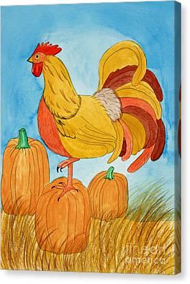 Appleton Canvas Print - Harvest Rooster by Norma Appleton