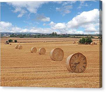 Harvest Time Canvas Print by Gill Billington