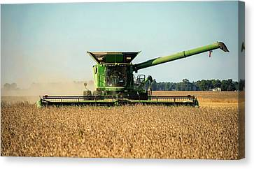 Harvest Time In Indiana Canvas Print by Mountain Dreams