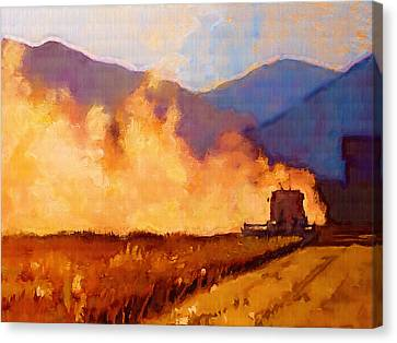 Mountain Canvas Print - Harvest Time by Robert Bissett