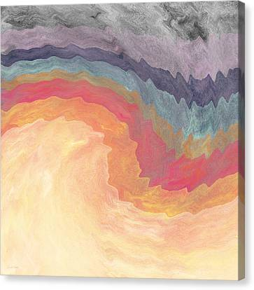 Harvest Wind- Abstract Art By Linda Woods Canvas Print by Linda Woods