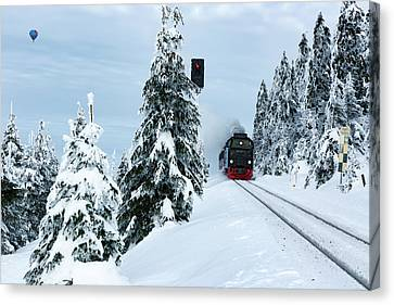 Harz Ballooning And Brocken Railway Canvas Print