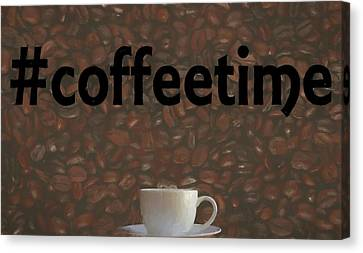 Hashtag Coffee Canvas Print by Dan Sproul