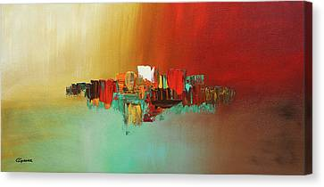 Canvas Print featuring the painting Hashtag Happy - Abstract Art by Carmen Guedez