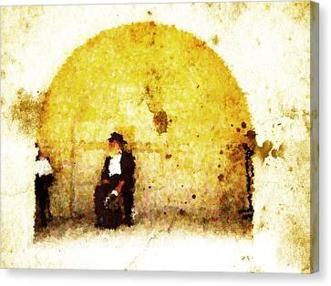 Kotel Canvas Print - Hasidim by Andrea Barbieri