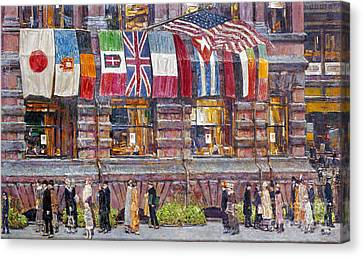 Hassam: Allied Flags, 1917 Canvas Print by Granger