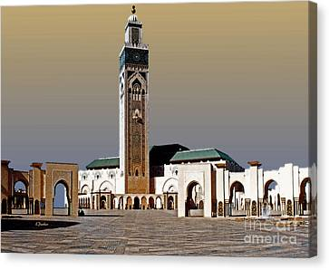 Hassan II Mosque - Morocco Canvas Print by Linda  Parker