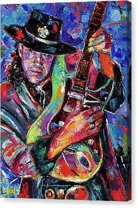Hat And Guitar Canvas Print by Debra Hurd