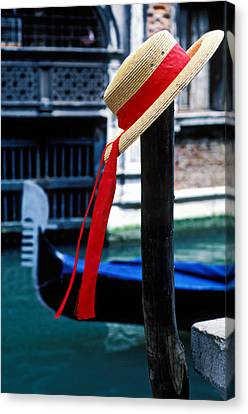 Hat On Pole Venice Canvas Print by Garry Gay