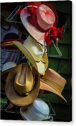 Hat Rack Canvas Print by Garry Gay