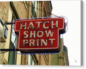 Canvas Print featuring the painting Hatch Show Print by Sandy MacGowan