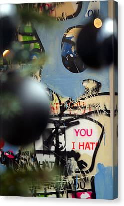 Hate You Canvas Print by Jez C Self