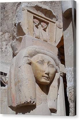 Hathor At Deir El Bahri Canvas Print by Richard Deurer