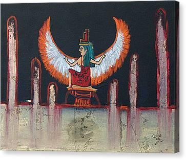 Hathor Canvas Print by Corlia Chameleon