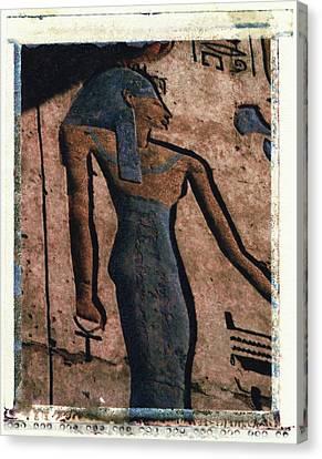 Hathor Holding The Ankh Sign Canvas Print