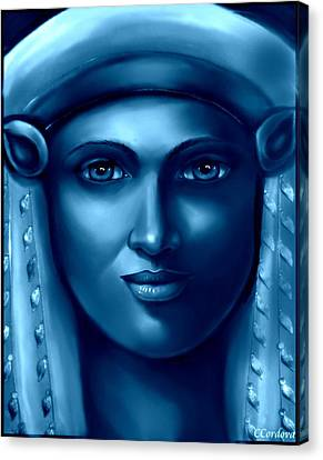 Hathor Canvas Print - Hathor -the Goddess 2 by Carmen Cordova