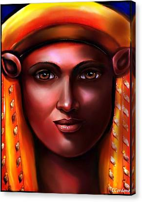 Hathor Canvas Print - Hathor- The Goddess by Carmen Cordova