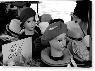 Hats And Heads Canvas Print by Tony Grider